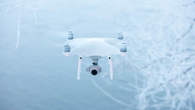 Полёты на дронах зимой
