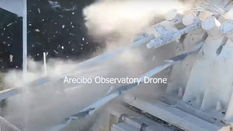 Беспилотник заснял разрушение обсерватории