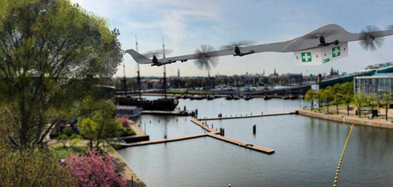 Лаборатория испытания дронов в Амстердаме