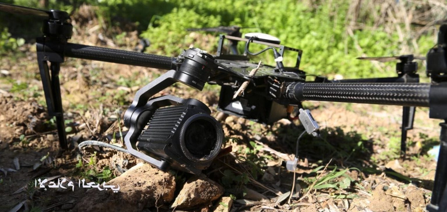 Израильский квадрокоптер DJI Matrice 100 упал на территории Ливана.