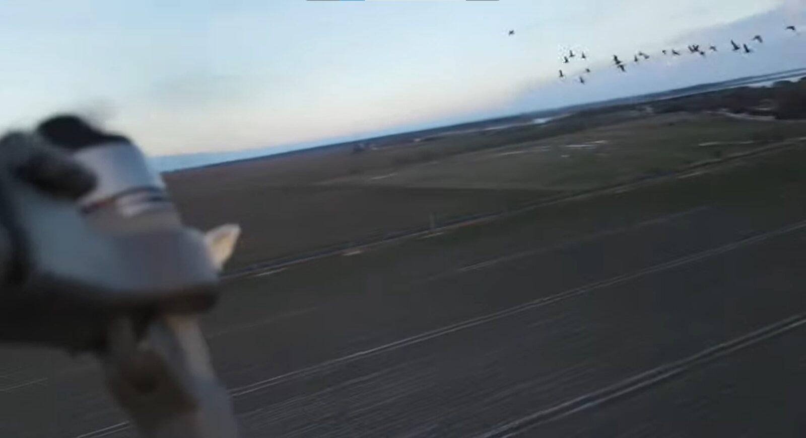 Охота на гуся с квадрокоптера привела к аварии DJI Mavic!
