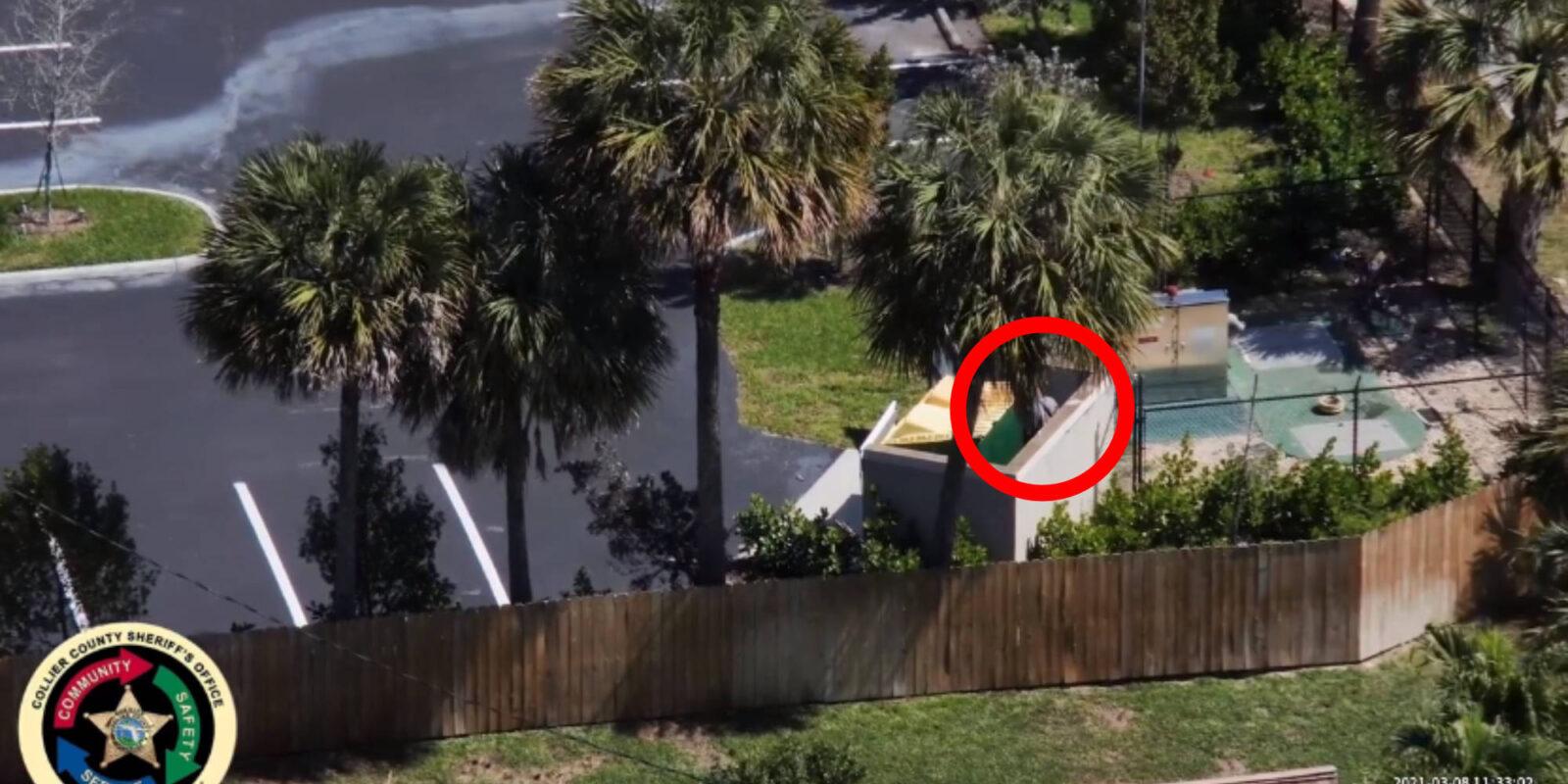 Шериф округа Коллиер во Флориде смог найти подозреваемого с помощью своего дрона