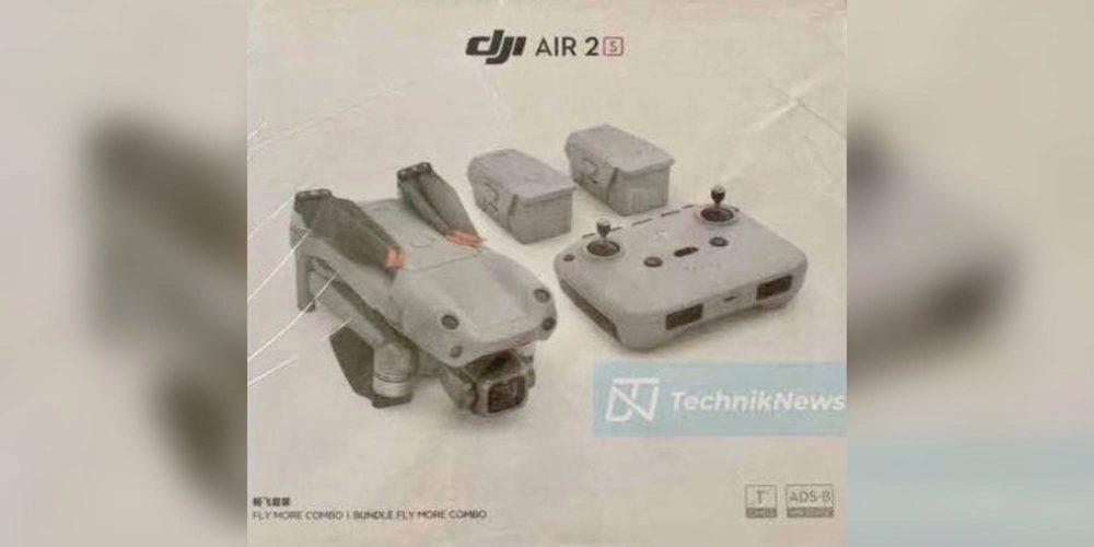 Обзор слитых фотографий упаковки дрона DJI AIR 2S